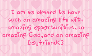 to have such an amazing life with amazing opportunities an amazing ...