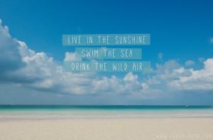 live in the sunshine swim the sea drink the wild air boracay white ...