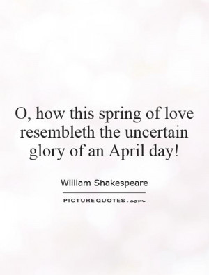 William Shakespeare Quotes Spring Quotes