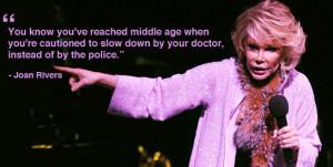 Joan Rivers on money.