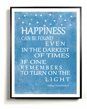 Quote Art Print, Albus Dumbledore quote, inspirational quote ...