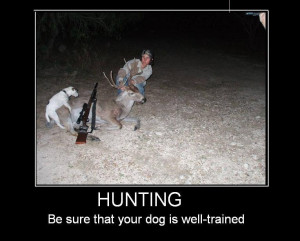 Hunting funny poster