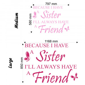 Cute Sister Quotes Because i have a sister