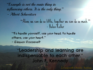 Inspirational, leadership quotes, student leaders, canyonville ...