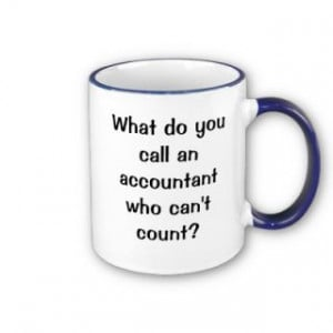 Keep them guessing with this very funny and original accounting coffee