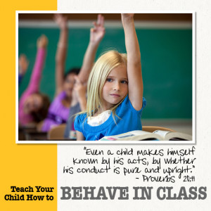 ... Behave in Class from the free e-book, Every School Year Counts