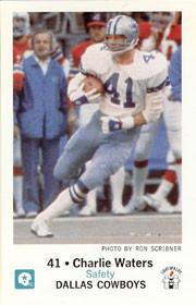 Charlie Waters Dallas Cowboy football cards