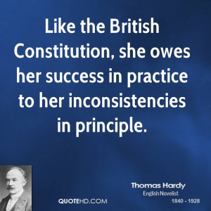 Like the British Constitution, she owes her success in practice to her ...