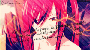 Erza Scarlet Quote by YukariEru