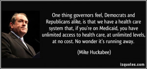 feel, Democrats and Republicans alike, is that we have a health care ...