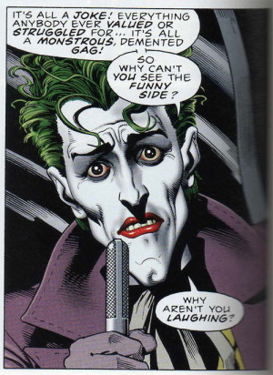 agree to a point, but The Joker's face is quite characteristically ...