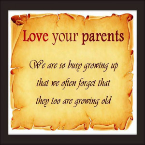 Parents can only give good advice or put them on the right paths, but ...