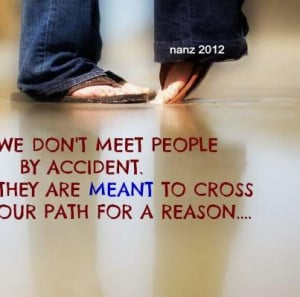 We Don't Meet People Ny Accident To Cross Your Path For A Reason ...