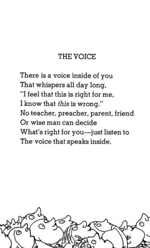 """The Voice"""" by Shel Silverstein"""
