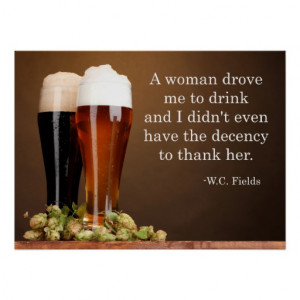 Fields Beer Quote Print