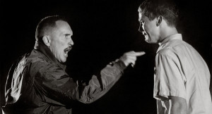 Robert Duvall, left, and Michael O'Keefe in a scene from the film ...