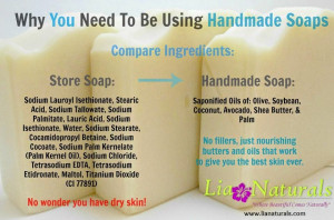 have been using handmade soaps by Lia Naturals for the past month ...