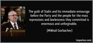 The guilt of Stalin and his immediate entourage before the Party and ...