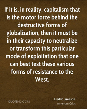 ... neutralize or transform this particular mode of exploitation that one