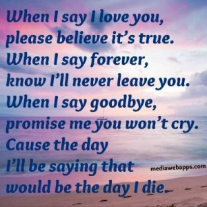 Please love me forever quotes