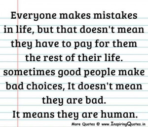 Mistakes Inspirational Quotes, Thoughts – Best Mistake Quotes