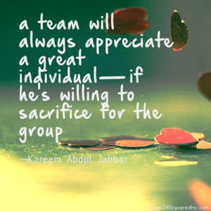 Teamwork quotes Kareem Abdul Jabbar