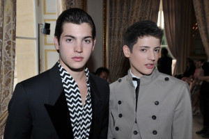 Teenage brothers Harry and Peter Brant Jr