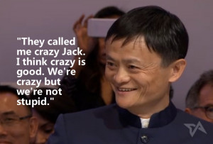 Then he launched into talking about Alibaba then and now, referencing ...