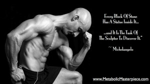 Motivational Fitness Quote from Michelangelo