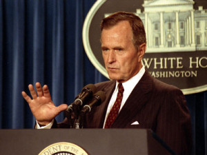 "... . Hopefully, they will not be needed long."" —George Bush, 8/8/90"