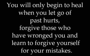 Forgive yourself.