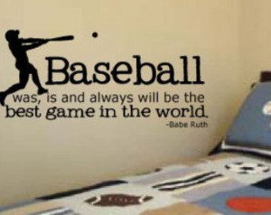 wall quotes baseball babe ruth quote for little boys rooms vinyl wall ...