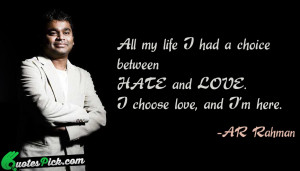 All My Life I Had by ar-rahman Picture Quotes