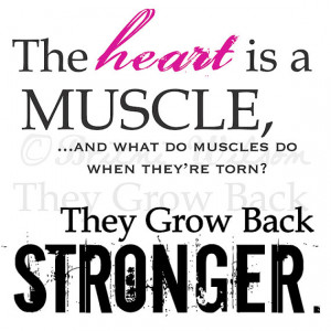 the heart is a muscle and what do muscles do when they are torn they ...