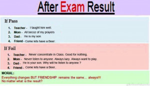 after exam result