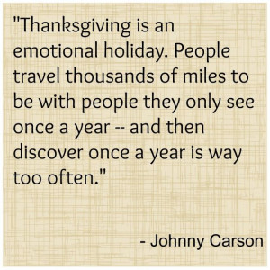 johnny carson thanksgiving quote Funny and Inspiring Thanksgiving ...