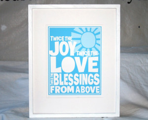 TWINS Baby Nursery Quotes about Twins Poster Fine Art Print. $18.00 ...