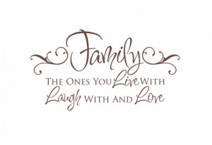 Family Vinyl Wall Decal - Live Laugh Love Wall Quote Saying for Living ...
