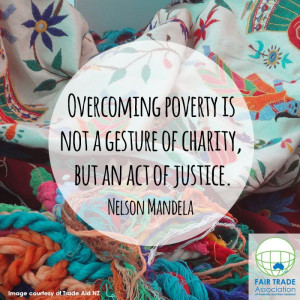 Overcoming Poverty is not a gesture of charity but an act of justice.