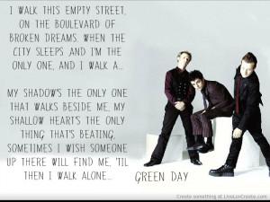 Boulevard Of Broken Dreams Green Day