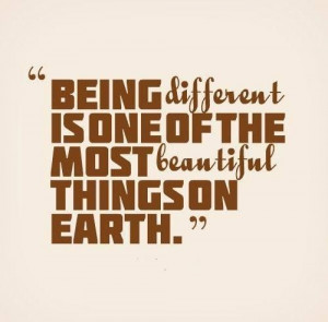 Being Different.....