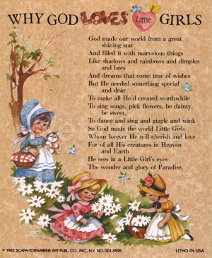 Why God loves Little Girls by J. B. Grant art print