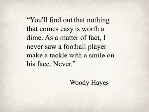 Woody Hayes, former Ohio State football coach