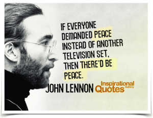 peace instead of another television set then there d be peace