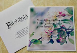 Heart photo card inspirational quote handmade by finchfieldart, $4.95