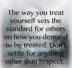 blog secret self respect teach other people treat