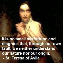 Theology of the Body Thursday #2: Thought of the Day from St. Teresa ...