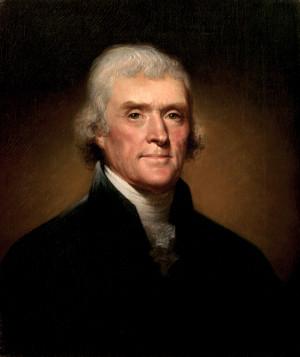 Thomas Jefferson por Rembrandt Peale en 1800.