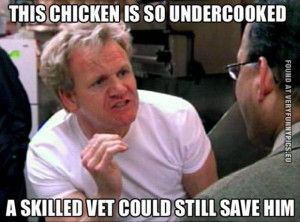 Funny Picture - Gordon Ramsay quote - That chicken is so undercooked a ...