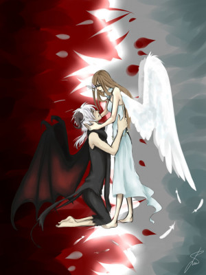 Angel And Demon Love Love between an angel and a